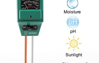 The best moisture meter is the Jellas 3-in-1 Moisture Meter, Soil pH Tester and Light Sensor.