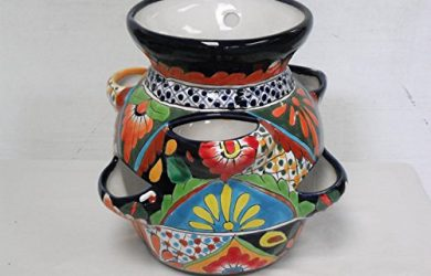 Talavera succulent pot bright and colorful - Talavera pottery.