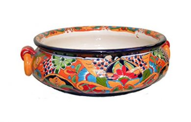 Large Colorful Design - Talavera Bowl to plant Succulents