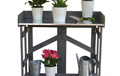 Fold away succulent potting bench used for many purposes.