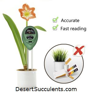 Soil moisture gauge with pH reading and light meter