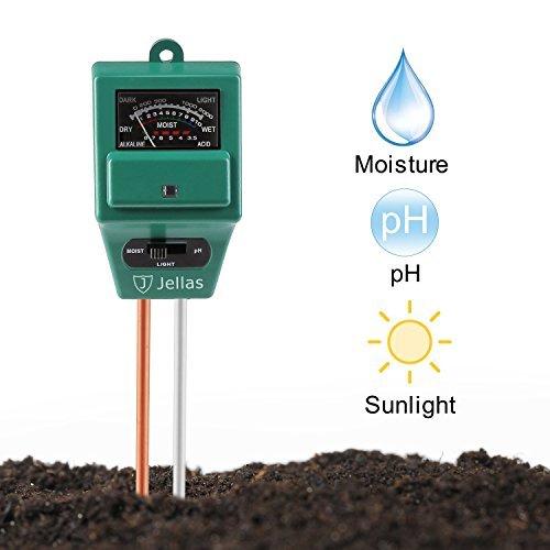 The best moisture meter is the Jellas 3-in-1 Moisture Meter, Soil pH Tester and Light Sensor.